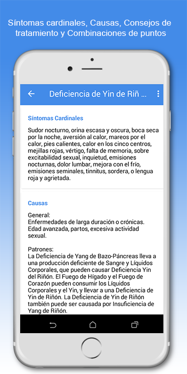App Shen-Acupuntura - Características